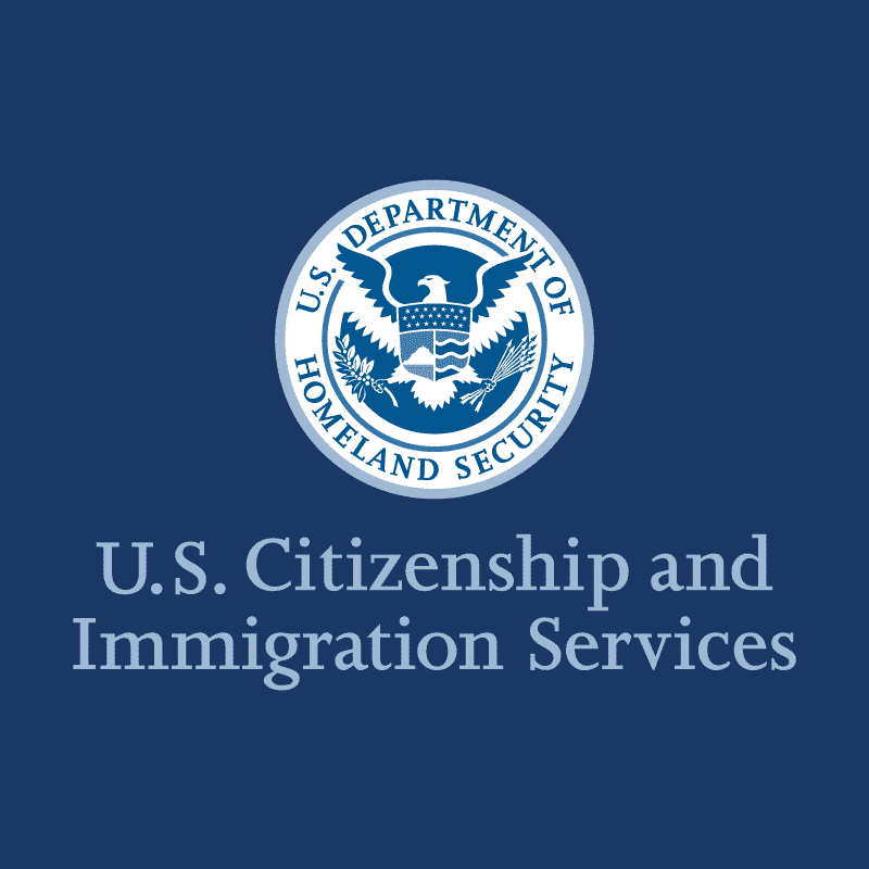 USCIS - US. Citizenship and Immigration Services.